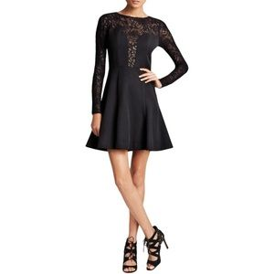 Black Halo Women's Long Sleeve Mesh Dress NWT